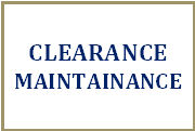 Clearance Maintainance