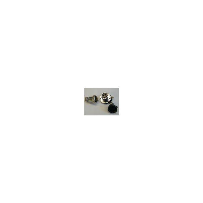 Plug & Socket Chrome 5 Amp 4 Pin
