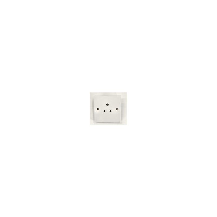3 Round Pin 5 Amp Socket White