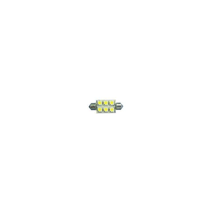 6-LED Festoon 37mm Warm White 1.5watt 107lm