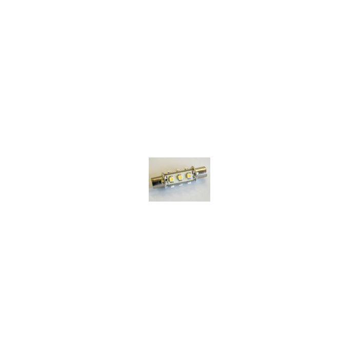 12-LED Festoon Aqua Signal Type 43mm Warm White 1.0watt 84lm