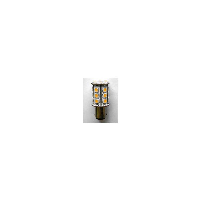 24-LED BA15D Cap Lamp Warm White 50mm long 23mm dia 2.8watt 320l