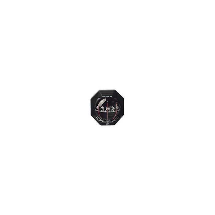 Contest 130 Inclined Bulkhead 10-25° Black With Red Card Compass
