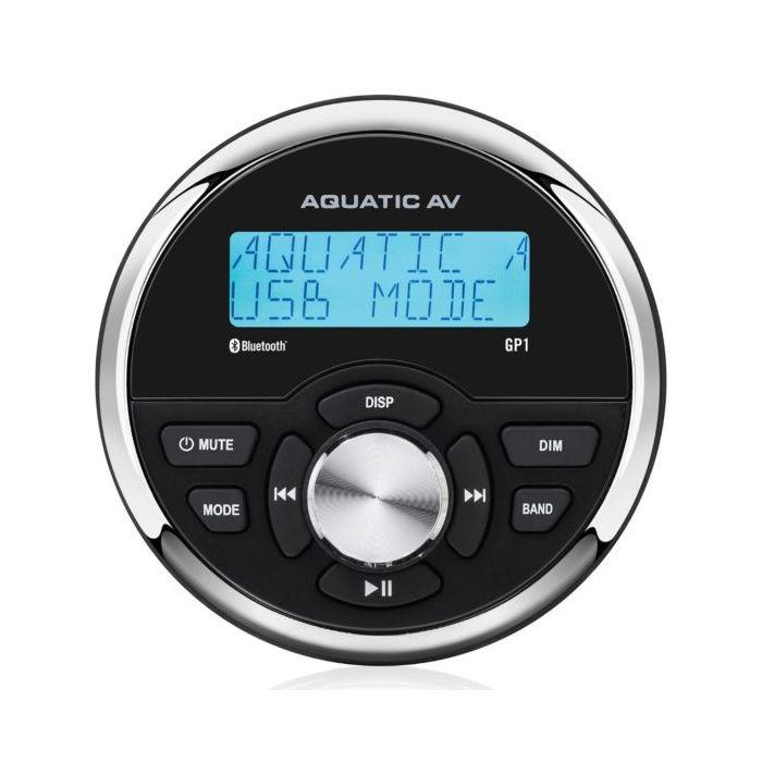 Aquatic GP1 Gauge Size Marine Bluetooth Stereo
