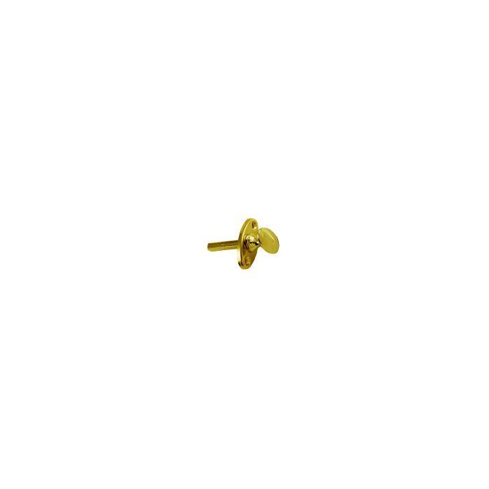 Knob c/w Rose & Spindle Brass