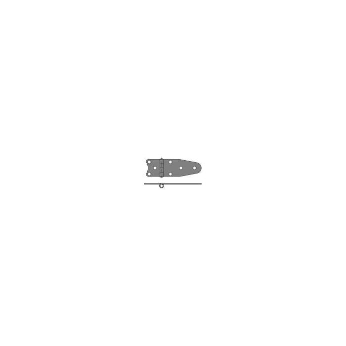 S/S Single Tail Hinge 130mm x 40mm