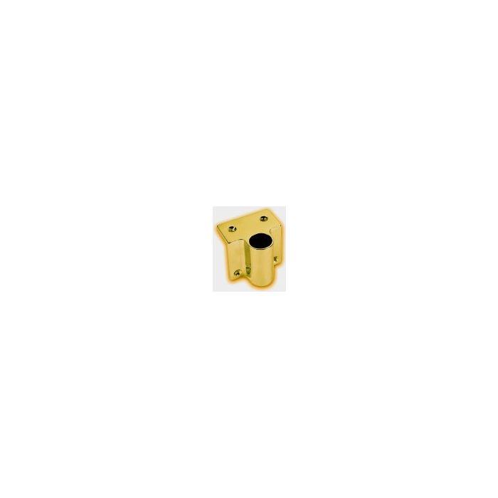 Angular Handrail Fixing Piece Brass