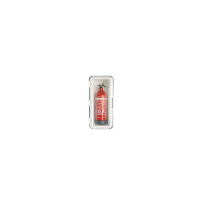 Fire Extinguisher (1kg) Storage Case White with Clear Door