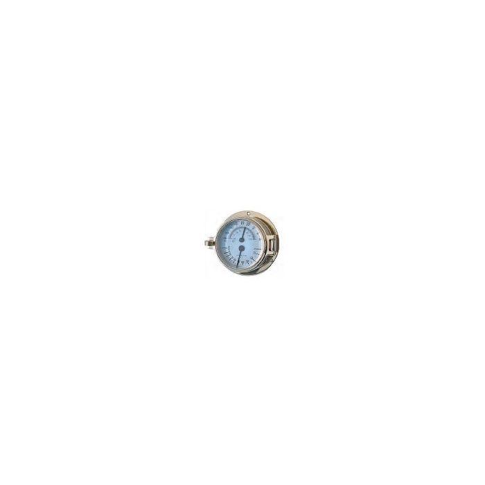 Channel Range Brass Thermometer Hygrometer 79mm