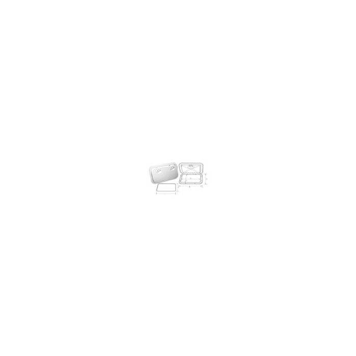 Access Hatch White with Removable Cover OD355 x 600mm
