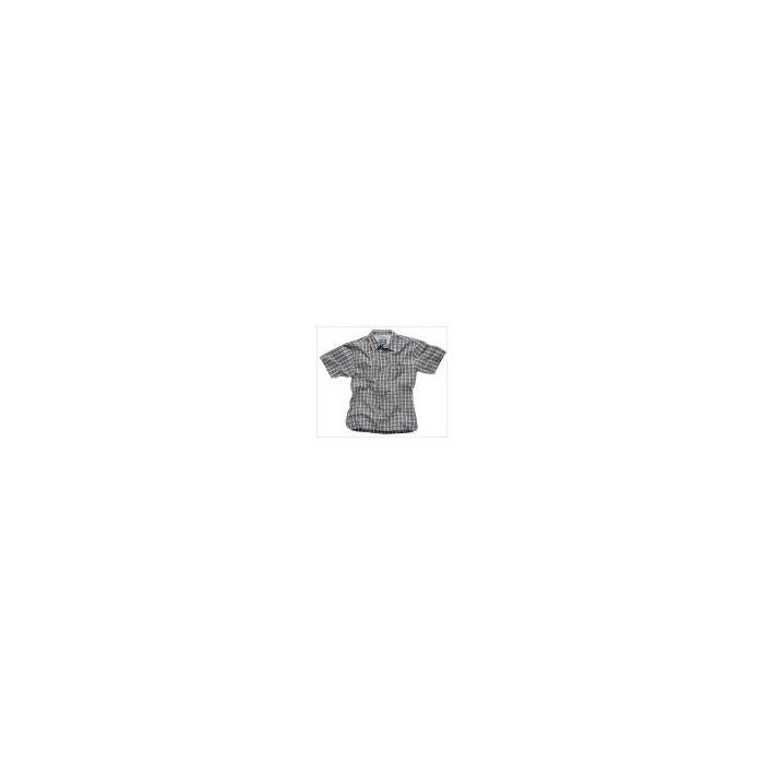 Gill Men's Short Sleeve Shirt - Steel Grey Check