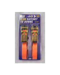 Ratchet Strap & S Hooks 25mm x 4.5M Pair