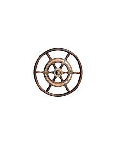 Stazo 500mm Traditional Teak Wheel CHrome Trim / Teak Rim
