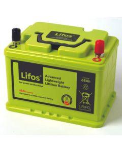 Lifos 68Ah/12v Smart Lithium (LiFePO4) Battery (LB0068)