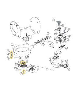 Base to Bowl Mounting Kit for Jabsco Manual Toilets