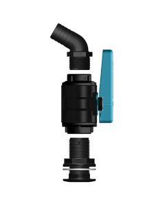 Tru Design Glass Reinforced Seacock Kit 25mm 120 deg