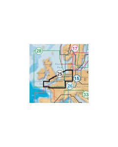 Navionics Platinum 25P+ Card UK South/Hamburg  (SD Card Format)
