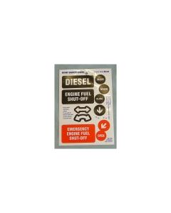 Boat Safety  Sticker Sheet Engine Fuels/Diesel