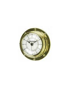 Rivet-style Clock Spun Brass