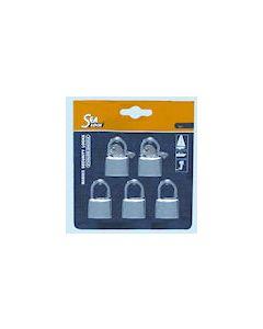 Sea Lock Chrome Padlock Set of 5