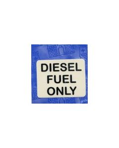 Diesel Fuel Only Sticker (Black on Clear)