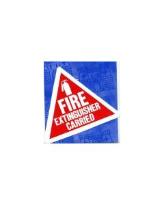 Fire Extinguisher Carried Sticker
