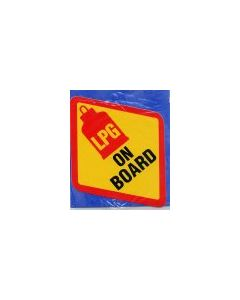 LPG on Board Diamond Sticker