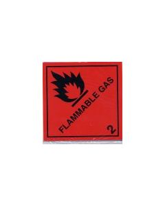 Flammable Gas 2  Sticker