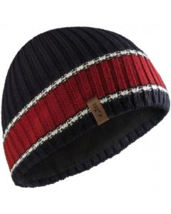 Gill Band Stripe Beanie Navy/Red/White