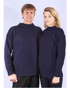 Guernsey Traditional Jumpers -  Wool - Navy
