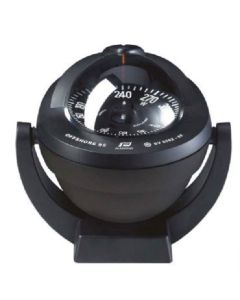 Offshore 95 Black Bracket Mount Compass Black Flat Card