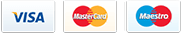 Credit cards, we accept: PayPal, Visa, MasterCard, Maestro